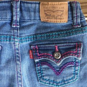 153072555 Levi's 715 Thick Stitch Boot Cut Jeans 3T